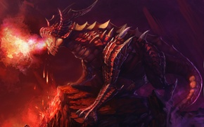 Picture fantasy, rendering, dragons