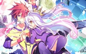 Picture background, Sora, Shiro, No game no life, the game to life