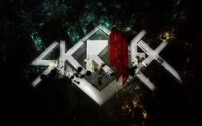 Picture squirt, music, dub, Skrillex