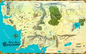 Picture map, John. R. R. Tolkien, The Lord of the Rings, John Ronald Reuel Tolkien, Middle ...