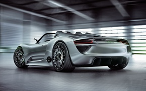 Picture Concept, Porsche, the concept, car, Spyder, 918, beautiful, back