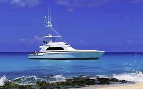Wallpaper white, yacht, fishing
