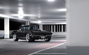 Picture Corvette, Chevrolet, Black, 1964