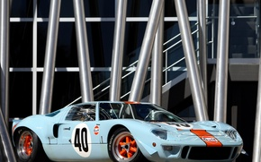 Picture Ford, The Mans, GT40, Oil, '1968, Gulf