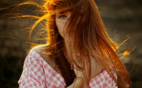 Wallpaper the beauty, redhead, sunlight, Anastasia, natural light, Nastya