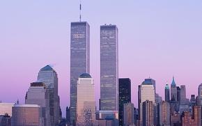 Picture skyscrapers, new York, World trade center, WTC, World Trade Center