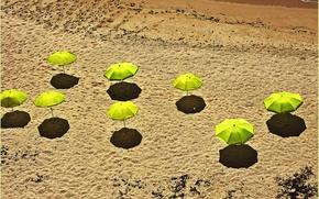 Picture sand, beach, shadow, umbrella
