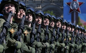 Picture holiday, victory day, soldiers, parade, red square