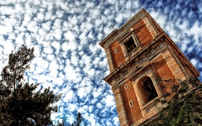 Picture the sky, clouds, Tower