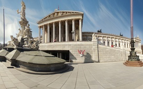 Wallpaper Parliament, Vienna, Vienna
