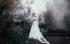 Picture girl, fantasy, dress, art, Bella Kotak