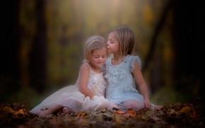 Picture autumn, girls, kiss, danielle balance
