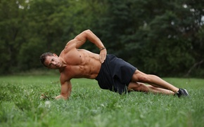 Picture muscles, men, fitness, abs