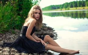 Picture shore, legs, the water, Kseniya Kokoreva