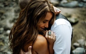 Picture girl, ring, hugs, lovers