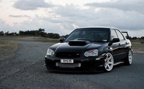 Picture turbo, wheels, subaru, black, japan, wrx, impreza, jdm, tuning, power, front, Subaru, sti, face, Impreza, …