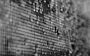 Picture drops, mesh, white, texture, blur, black, texture, 1920x1200, black and white