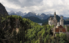 Picture mountains, nature, castle