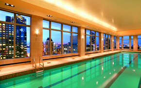 Picture water, light, the city, Windows, interior, pool, the hotel