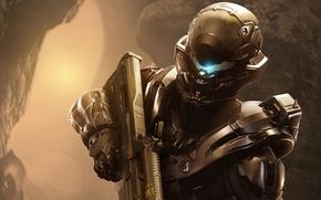 Wallpaper Look, Helmet, Microsoft, Soldiers, Weapons, Halo, Armor, Equipment, 343 Industries, Halo 5: Guardians
