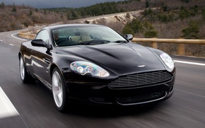 Wallpaper road, auto, Aston Martin