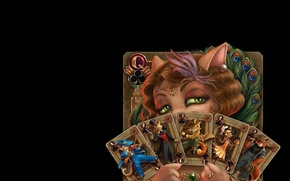 Picture cat, card, the fortune teller