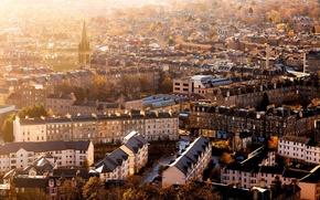 Picture autumn, the city, building, home, morning, Scotland, panorama, Scotland, Edinburgh, Edinburgh