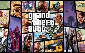 Picture logo, art, art, Grand Theft Auto 5