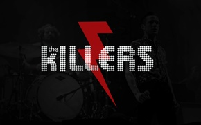 Picture music, rock, logo, Flowers, band, battle, song, born, The Killers, Brandon