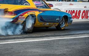 Picture race, smoke, wheel, Chevrolet, Camaro, muscle car, drag racing