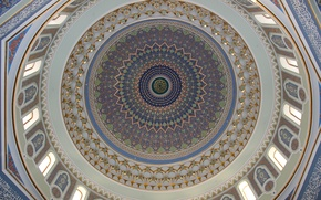Picture mosaic, paint, figure, the dome, the mosque