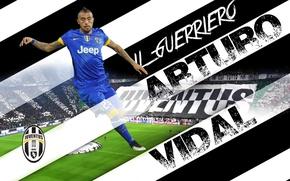 Picture wallpaper, sport, football, player, Juventus FC, Arturo Vidal, Juventus Stadium, He Guerriero