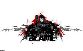 Picture cyberpunk, Blame!, cyberpunk, manga, Tsutomu Nihei, silicone creatures