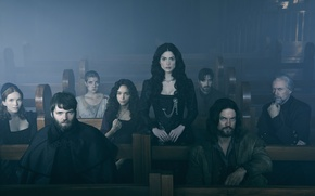Picture magic, long hair, actors, series, men, women, witchcraft, darkness, demons, black hair, necklace, cast, Salem, …