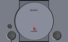 Picture Sony, Console, Sony Playstation, First, Console