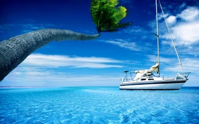 Picture mood, the ocean, yacht
