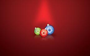 Wallpaper balls, decoration, holiday, new year, Christmas