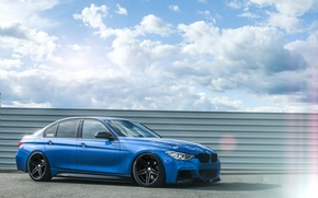 Picture BMW, Blue, BMW, Tuning, F30, 330d
