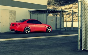 Picture red, BMW, BMW, red, rear, e92, The 3 series