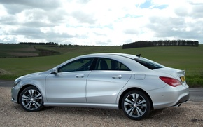 Picture machine, the sky, Mercedes-Benz, side view, CLA 180