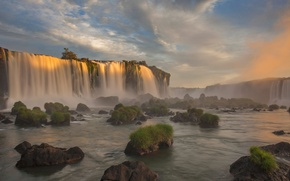 Wallpaper river, waterfall, Brazil, Paraná, Iguazu national Park