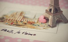 Picture love, Paris, postcard