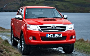 Picture England, Japan, Machine, Wallpaper, Japan, Red, Toyota, Car, Pickup, Auto, Hilux, Car, Wallpapers, England, Toyota, …