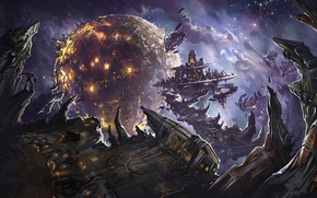 Picture planet, explosions, robots, Transformers, Battle, War For Cybertron, Transformers, Cybertron