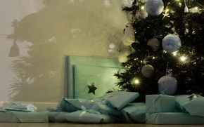Picture holiday, gifts, tree