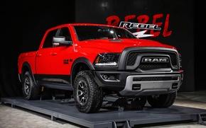 Picture Dodge, Red, Power, 1500, Pickup, Ram, Hemi, Rebel