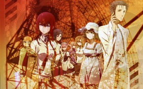 Picture hat, tie, Bathrobe, art, Steins Gate, Kurisu Makise, scientist, Gates Stein, fittings, Filter The Manga, …