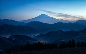 Picture mountain, spring, Japan, haze, Fuji, March, Mount Fuji