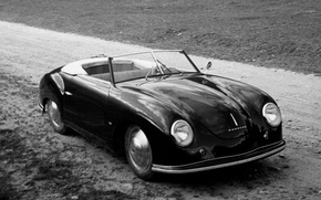 Picture porsche, 356, black and wite
