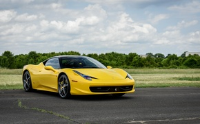 Picture Ferrari, 458, Yellow, Italia